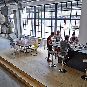 Lunch bij kantoorruimte Strijp CS Eindhoven